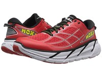 Hoka One One Clifton 2 Poppy Red White Men's Running Shoes