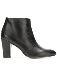 Chie Mihara Huba Heeled Ankle Boots Black