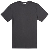 Sunspel Pocket Crew Neck Tee Charcoal Melange