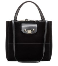 Jimmy Choo Robin Suede Shopper Black