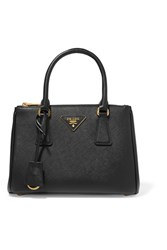 Prada Galleria Small Textured Leather Tote Black
