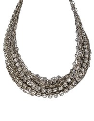 Abs By Allen Schwartz 17 Row Nested Necklace Crystal