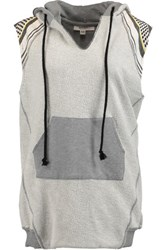 Lemlem Meron Cotton Jacquard Hooded Top Stone