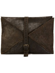 Ma Large Envelope Clutch Bag Brown