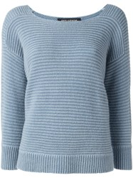 Iris Von Arnim Chunky Knit Jumper Blue
