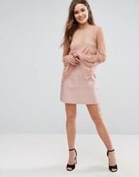 New Look Leather A Line Mini Skirt Mid Pink