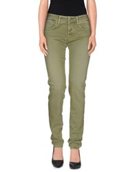 Two Women In The World Denim Denim Trousers Women Military Green