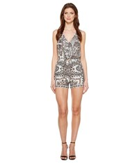 Lucky Brand Tie Front Romper Black Multi Women's Jumpsuit And Rompers One Piece