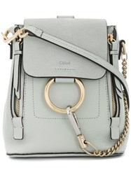 Chloe Mini Faye Backpack Grey