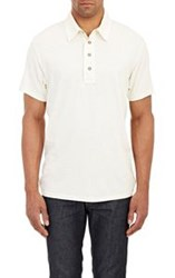 Ag Jeans Slub Polo Shirt White