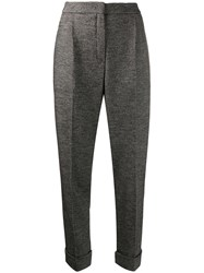 Odeeh Tapered Tailored Trousers Black