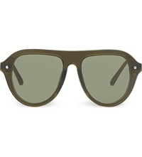 3.1 Phillip Lim Pl74 Aviator Sunglasses Olive And Silver
