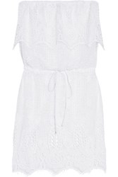 Miguelina Dylan Crocheted Cotton Lace Coverup White