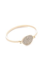 Rebecca Minkoff Military Mix Pave Disc Bracelet Gold Crystal