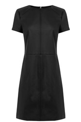 Oasis Faux Leather Shift Dress Black