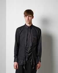 Comme Des Garcons Shirt Man Frilly Shirt Black