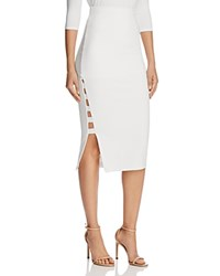 Guess Yoshi Caged Midi Skirt White