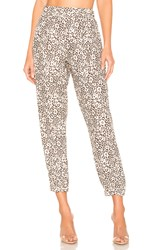 Atm Anthony Thomas Melillo Lunar Leopard Silk Jogger Brown