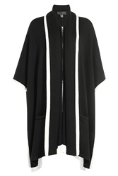 Barbara Bui Two Tone Wool Cape Black