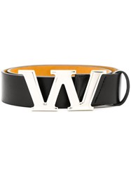 Alexander Wang W Buckle Belt Black
