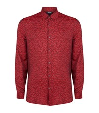 Just Cavalli Leopard Print Shirt Male Red
