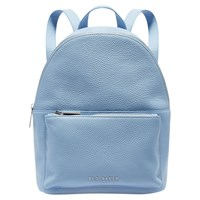 Ted Baker Pearen Leather Backpack Pale Blue