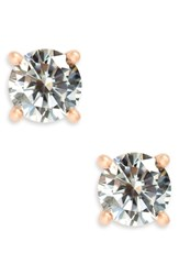 Nordstrom Cubic Zirconia Stud Earrings Clear Rose Gold