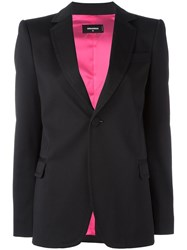 Dsquared2 Curved Lapel Button Blazer Black