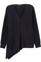 Magaschoni Silk And Cashmere Blend Sweater Midnight Blue