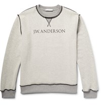 J.W.Anderson Printed Cotton Terry Sweatshirt Gray
