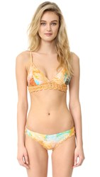Somedays Lovin Rhapi Palm Crochet Bikini Top Multi