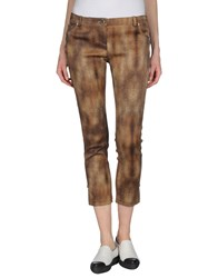Elisabetta Franchi Gold Trousers Casual Trousers Women Khaki