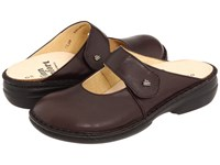 Finn Comfort Stanford 2552 Kaffee Senegal Leather Women's Clog Shoes Brown