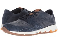 Hush Puppies Ts Field Sprint Navy Leather Lace Up Casual Shoes Blue