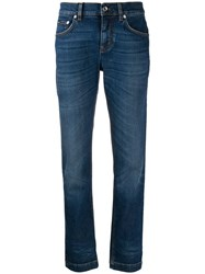Dolce And Gabbana Mid Rise Slim Fit Jeans Blue