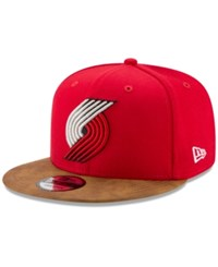 New Era Portland Trail Blazers Team Butter 59Fifty Snapback Cap Red Brown