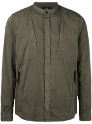 Stone Island Shadow Project Long Sleeve Shirt Men Cotton Polyamide Xl Green