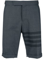 Thom Browne 4 Bar Skinny Fit Short Grey