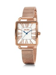 Folli Follie Retro Square Rose Gold Watch Rose Gold