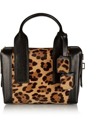 Pierre Hardy Bandit Small Leopard Print Calf Hair And Leather Tote