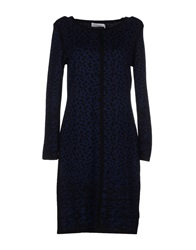 Velvet Short Dresses Dark Blue