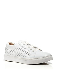 Kenneth Cole Lace Up Wedge Sneakers Kam Studded White