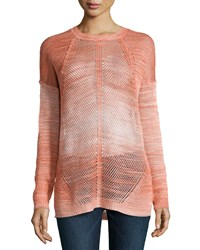 Haute Hippie Dyed Mesh St Crew Sweater