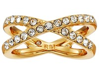 Rebecca Minkoff X Pave Ring Gold Crystal Ring
