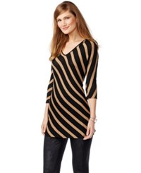 Inc International Concepts Striped Tunic Only At Macy's Misty Brown