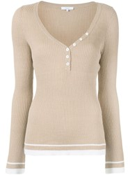 Venroy Wlngslvknittedtoptau Taupe Linen Flax 60
