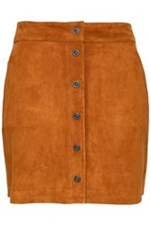 Frame Woman Suede Mini Skirt Camel
