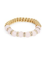 Catherine Stein Beaded Stretch Bracelet Pink