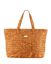 Seafolly Carried Away Woven Tote Bag Tan