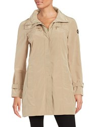 Calvin Klein Packable Rain Coat Khaki